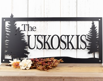 Custom Metal Sign | Last Name Sign | Family Name Sign | Wedding Gift | Name Sign | Custom Sign | Personalized Sign | Outdoor Sign | Sign