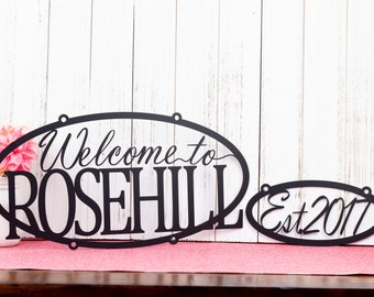 Custom Welcome Home Established Sign | Personalized Sign | Outdoor Sign | Name Sign | Custom Sign | Established Year