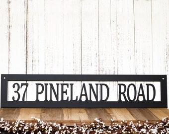 Hanging Metal Address Sign - House Number Plaque