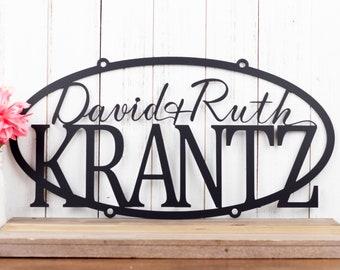 Custom Metal Sign | Outdoor Metal Wall Art | Metal Signs Personalized | Hanging Metal Sign | Personalized Family Name Sign