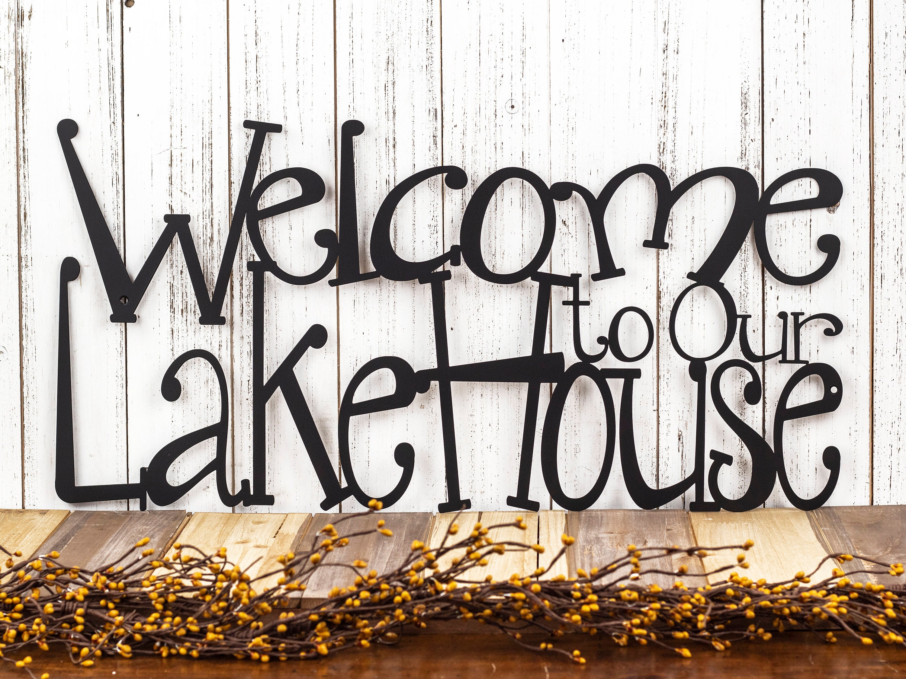 Lake House Sign   Lake House Decor   Steel Signs   Outdoor