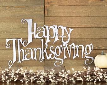 Thanksgiving Sign | Metal Wall Art | Thanksgiving Decor