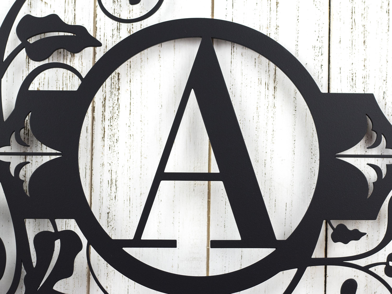 Monogram Metal Wall Art | Custom Sign | Monogrammed Sign ...
