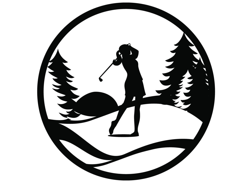 Golf Metal Wall Art   Woman   Golfing Sign   Golf Gift   Golfer Gift    Metal Wall Decor   Metal Wall Hanging   Outdoor Sign
