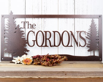Family Name Custom Metal Sign | Family Name Sign | Last Name Sign | Outdoor Sign | Metal Wall Art | Custom Sign | Personalized Sign | Sign