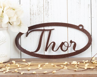 Custom Name Sign | Metal Name Sign | Personalized Sign | Metal Wall Art | Name Plaque | Custom Sign | Metal Wall Decor