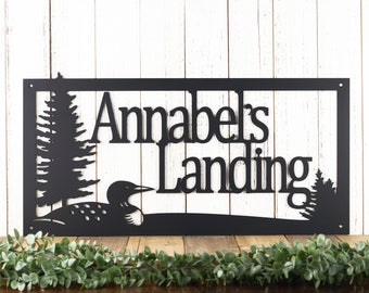 Lake House Decor - Metal Name Sign - Personalized Sign - Family Name Plaque