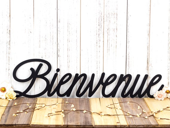 Bienvenue French Welcome Metal Wall Art Welcome Welcome | Etsy