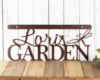 Custom Garden Sign | Garden Sign | Wall Art | Wall Decor | Metal Wall Art | Personalized Gift | Wall Hanging | Dragonfly