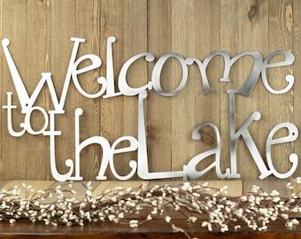 Welcome To The Lake Metal Wall Decor | Lake House Decor | Metal Wall Art | Lake Wall Decor | Cabin Decor | Metal Sign | Metal Sign