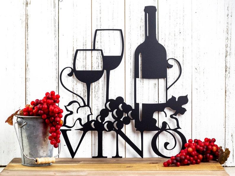 Handmade Wine Metal Wall Art by Refined Inspirations