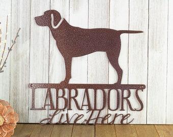 Labrador Retriever Dog Metal Wall Art