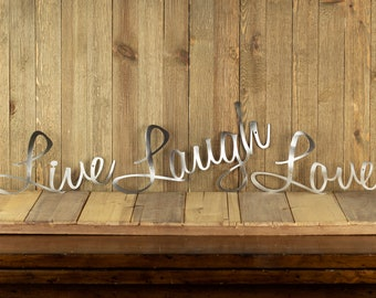 Live Laugh Love Wall Decor | Patio Decor | Lake House Decor | Metal Wall Art | Wall Hanging | Home Decor | Sign | Metal Art