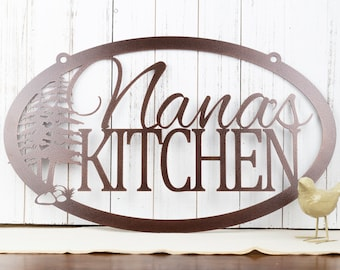Custom Metal Sign | Kitchen Sign | Name Sign | Rustic | Metal Wall Art | Personalized Sign | Custom Sign | Wall Hanging