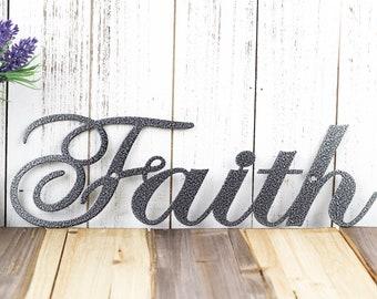 Faith Metal Wall Art | Metal Sign | Faith Sign | Spiritual | Religious | Inspirational | Metal Wall Decor | Wall Hanging | Metal Art