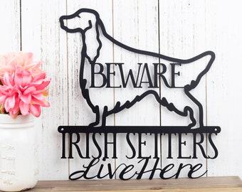 Irish Setter Metal Wall Art | Red Setter | Setter | Dog Sign | Metal Sign | Metal Wall Decor | Wall Hanging | Sign