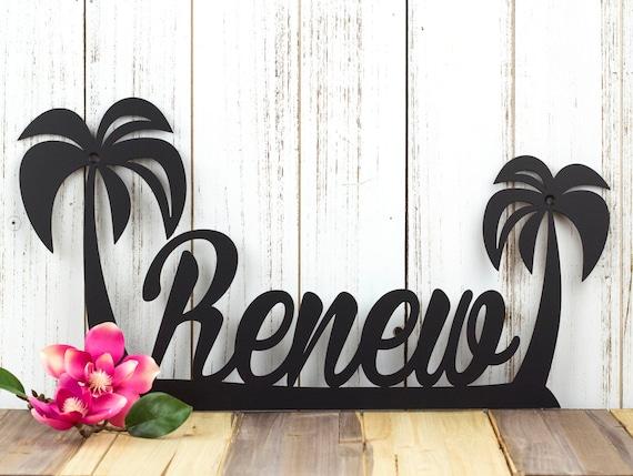 Palm Tree Custom Name Sign Tropical Decor Palm Tree Wall