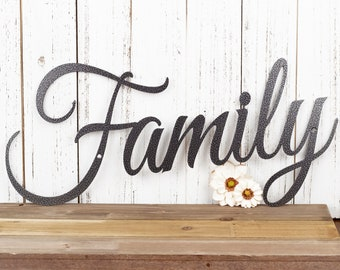 Family Metal Sign | Metal Wall Art | Family | Wall Hanging | Metal Wall Decor | Sign | Family Sign | Home Decor | Wall Art | Wall Decor