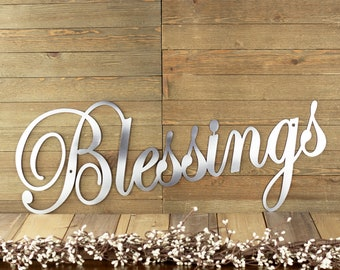 Blessings Metal Wall Art   Family Sign