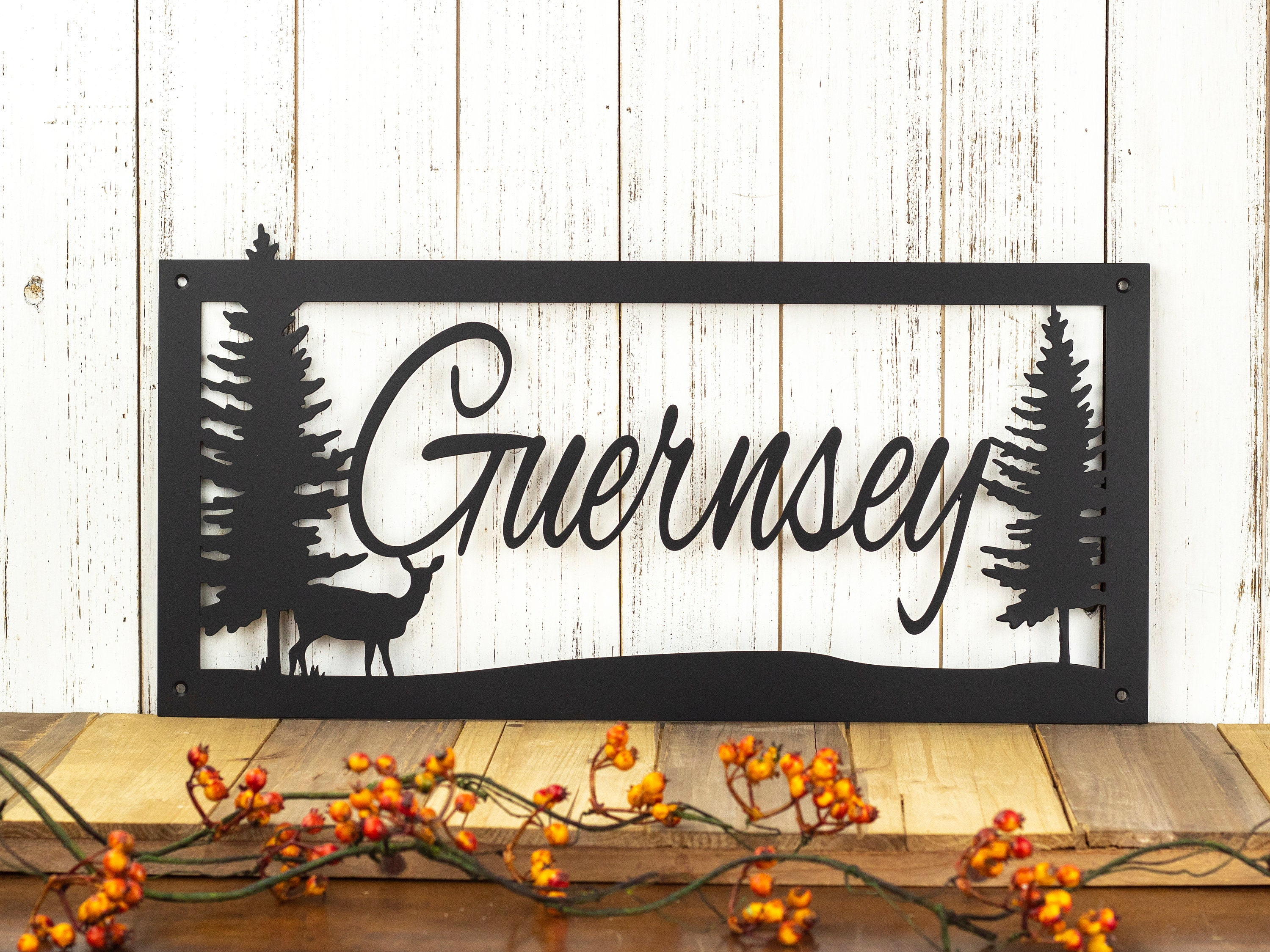 Last Name Sign Metal Signs Personalized Custom Metal Sign Lake House Decor Rustic Home Decor Laser Cut Sign Matte Black Shown