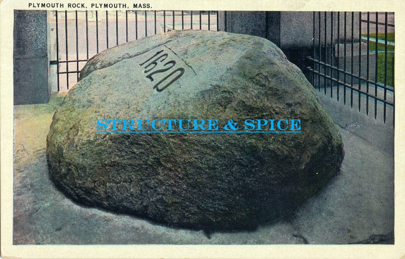 Massachusetts Antique Postcard of Plymouth Rock in Plymouth Massachusetts This Antique Postcard is Circa 1934.