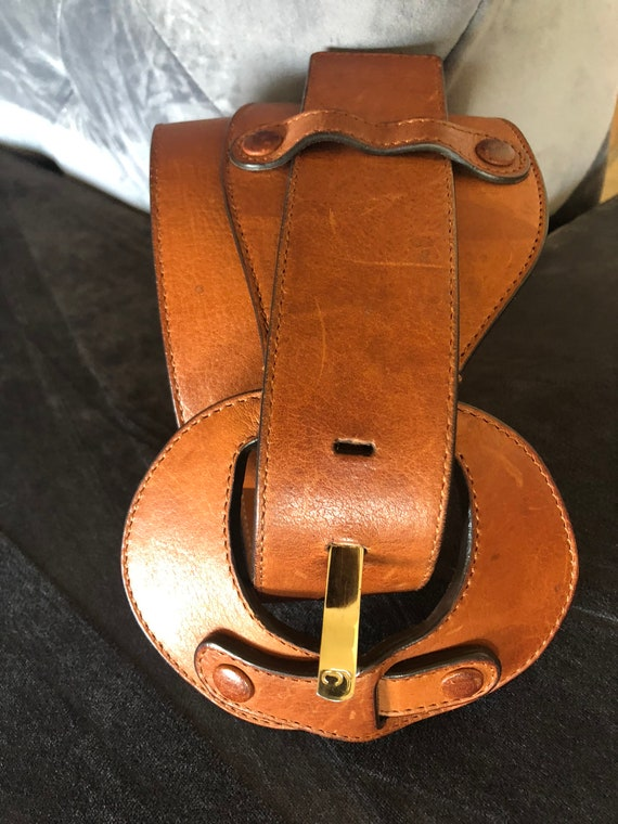 Roberto Cavalli Natural Leather Brown Cinch Belt