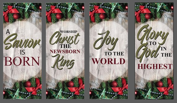 Christmas Banners.Christmas Banners 4 Banners Set