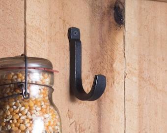 Rustic Metal Hook, Industrial Wall Hook, Black Metal Hook, Entryway Coat Hook, Single Wall Hook, Metal Hook for Hanging,Heavy Duty Wall Hook