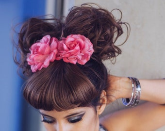 SALE Penny Wigs Clip-in bang fringe with scrunchie hair set
