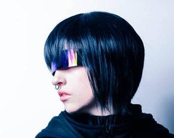 Motoko Kusanagi Cosplay Fashion Jet Black Pixie Cut Full Wig
