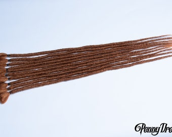 """New!   Natural Red #30 Synthetic Faux Locs Crochet Extensions Single Ended (10 dreads) Synth Natural Realistic 18"""""""