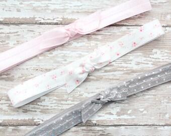 Baby Headbands - Knot Bow Headbands - Sizes Newborn to Adult - Tie Knot Headbands - Baby Bow Headbands - Newborn Girl Headbands