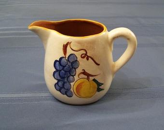 JUST REDUCRED!  Vintage Stangl Pitcher. Handpainted Fruit Terra Rose Pattern