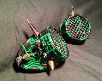 Cyber Goggles #G257UV Black & UV Green