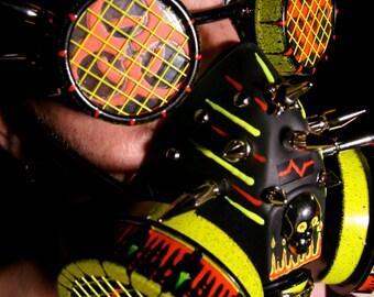 ON SALE cyber goggles G163UV orange biohazard