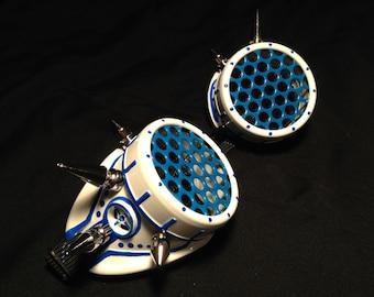 Cyber Goggles #G262UV White & UV Blue