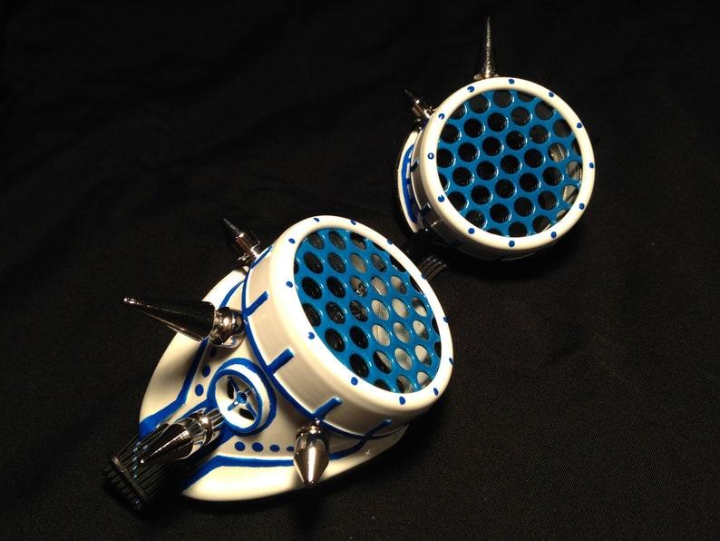 Cyber Goggles G262UV White & UV Blue image 0