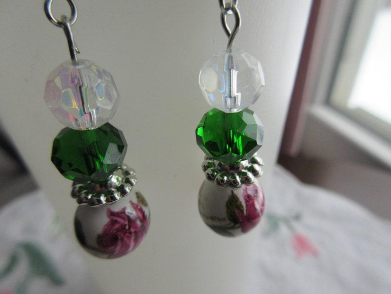 Rose Designed Dangle Earrings 2021