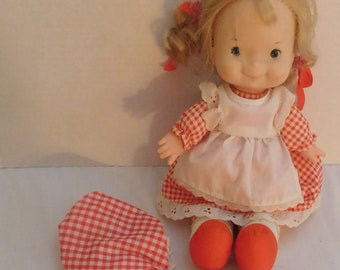 vintage 1970's Fisher Price Lapsitter doll #200 Mary + nightgown