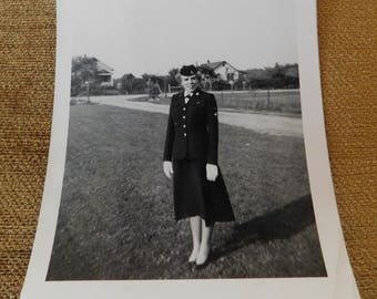 Photograph Woman in Military Uniform 1953