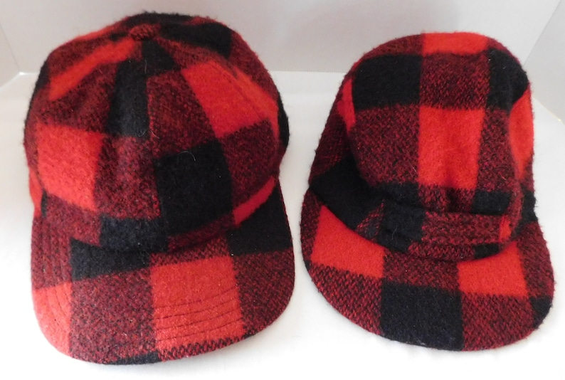 182ab539b8643 2 vintage WOOL Hunting Cap with Ear Flaps Adult and