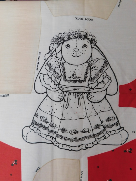 1990 DAISY KINGDOM Christmas Veronica Louise Bunny cut sew   Etsy