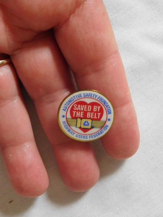 vintage Automotive Safety Foundation Pin Tie Tac S