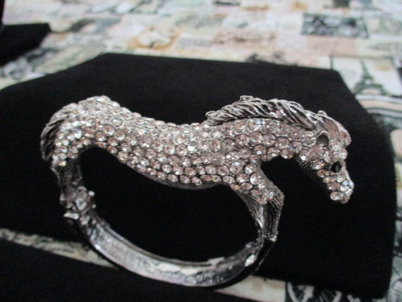 Vintage Rhinestone Horse Bracelet
