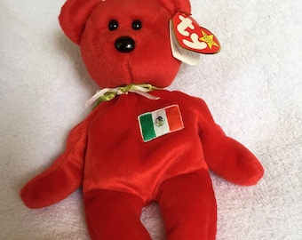 Osito Mexican Bear - 5th generation - Ty Beanie Baby - Retired - 1999 -  Mint Condition a714c9482fc2