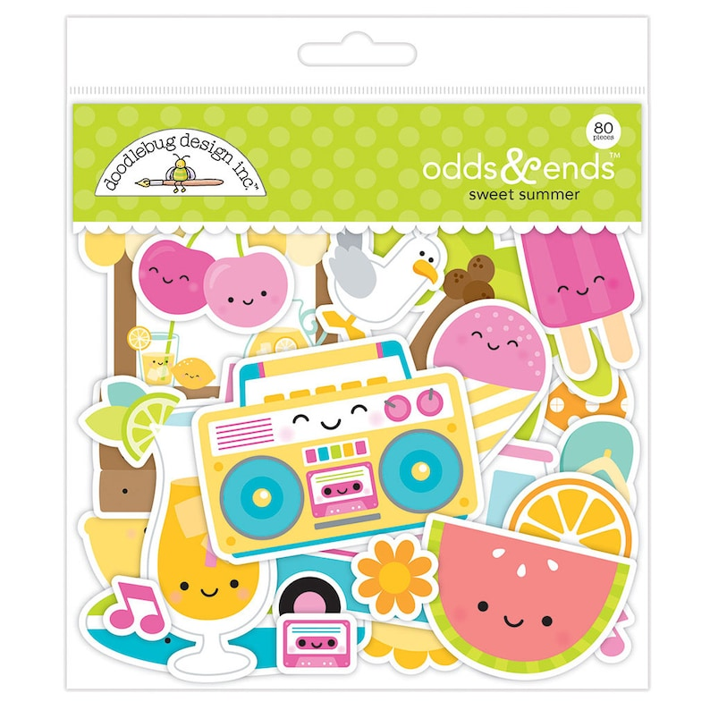 Doodlebug Mini Cardstock Stickers-sweet Summer Icons