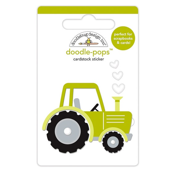 Tractor 3 D Sticker Doodlebug Trusty Tractor