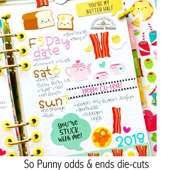 Doodlebug ~ SO PUNNY ~ Odds /& Ends Die Cuts