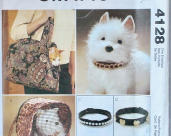 McCALL/'s 4128 OOP PET CARRIERS AND PET COLLARS Pattern