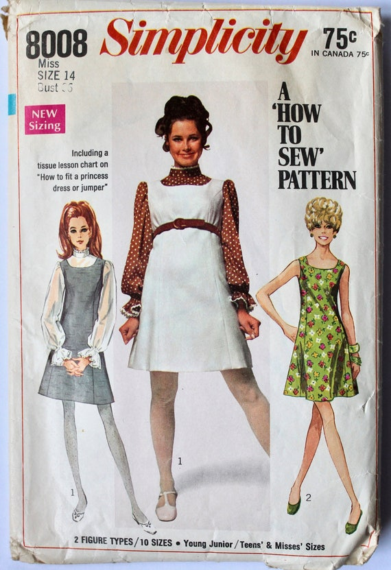 Vestido-vestido sin mangas y Belle-manga blusa patrón de   Etsy
